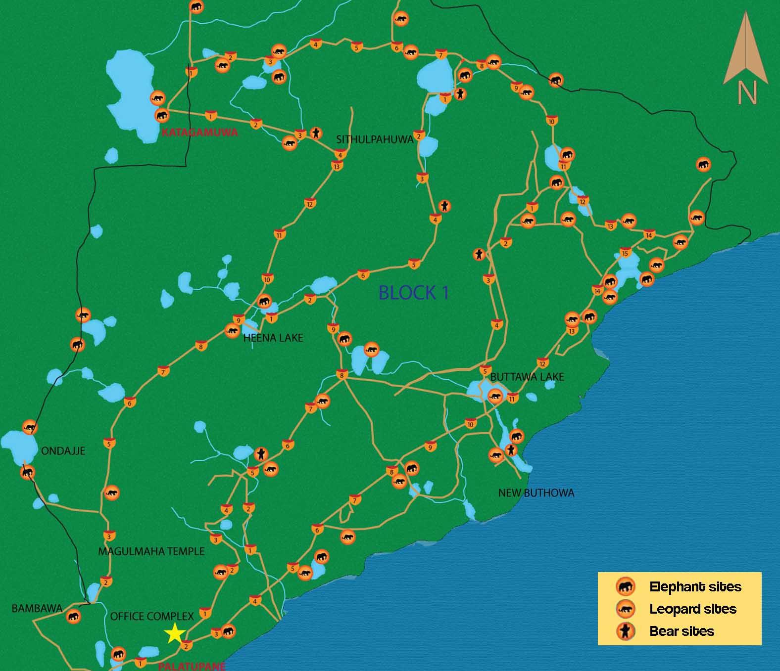 Карта Яла