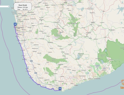 Автобусные маршруты на карте Шри-Ланки