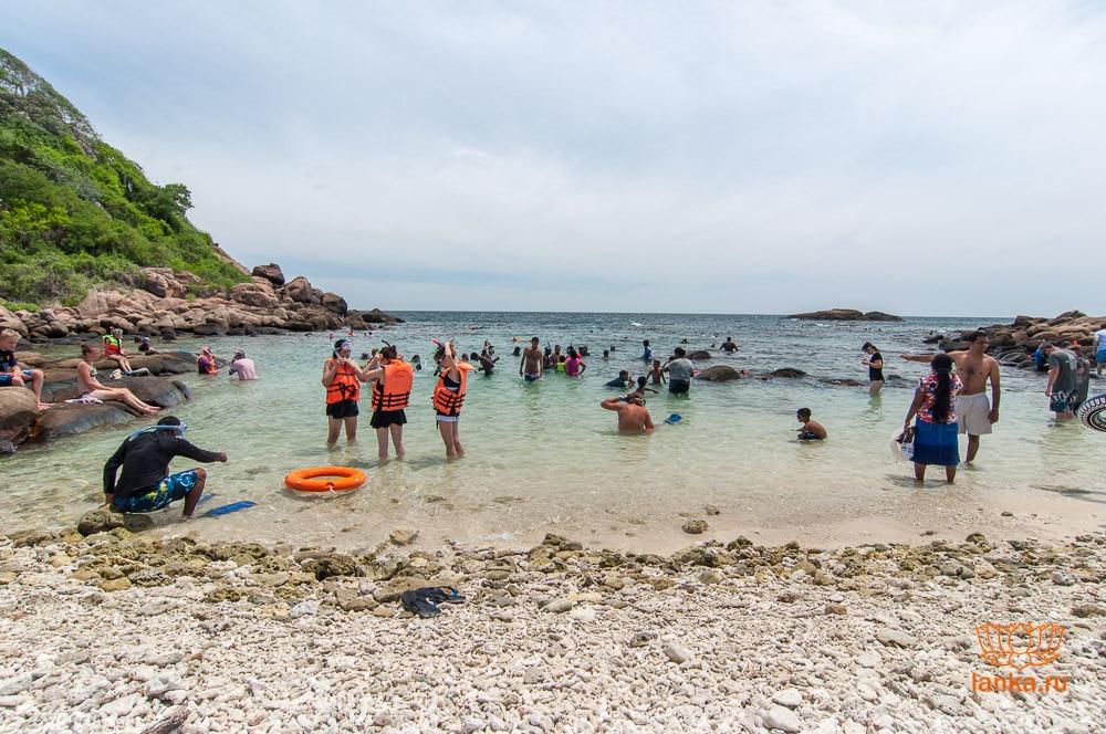 Остров Пиджен, залив для купания