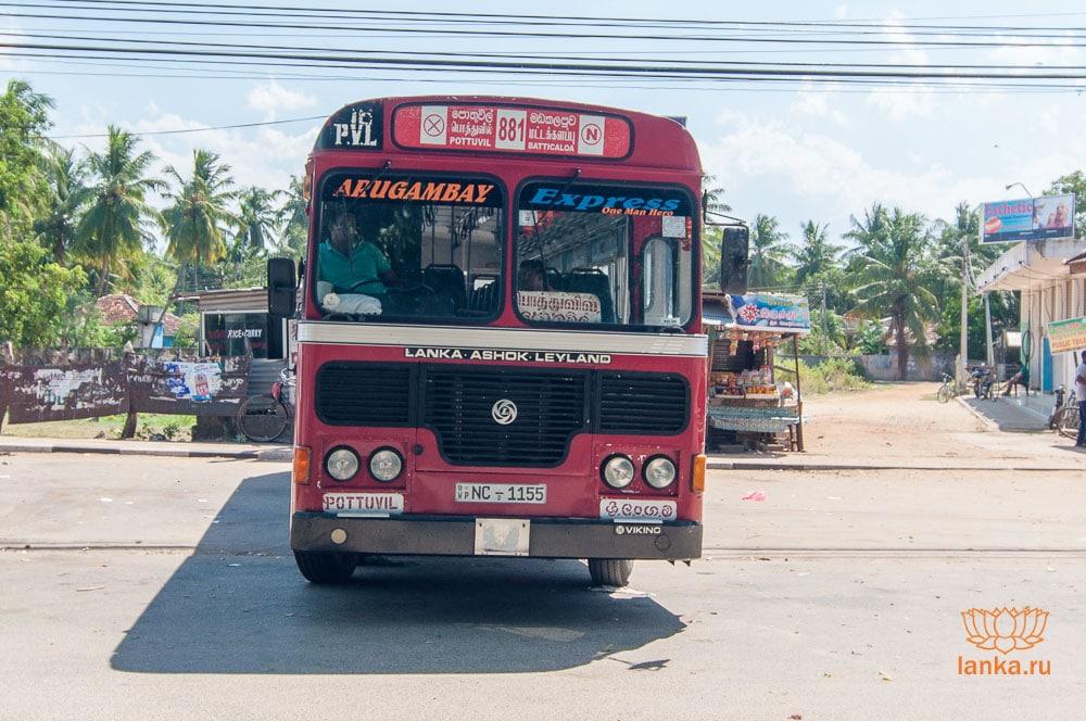 Автобус Баттикалоа - Поттувил