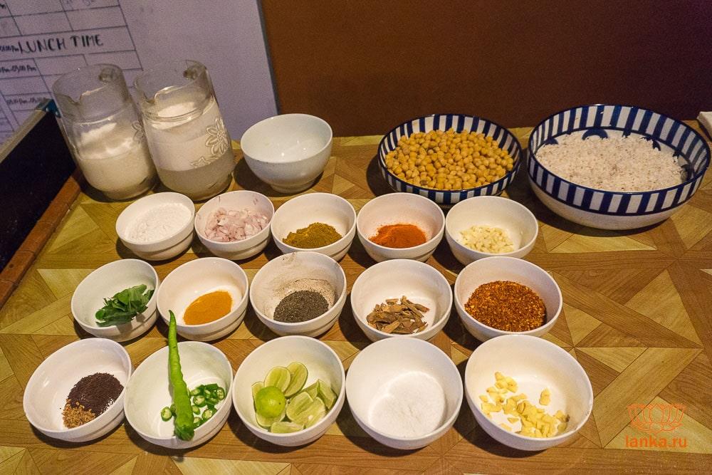 Ингредиенты для ланкийской кухни