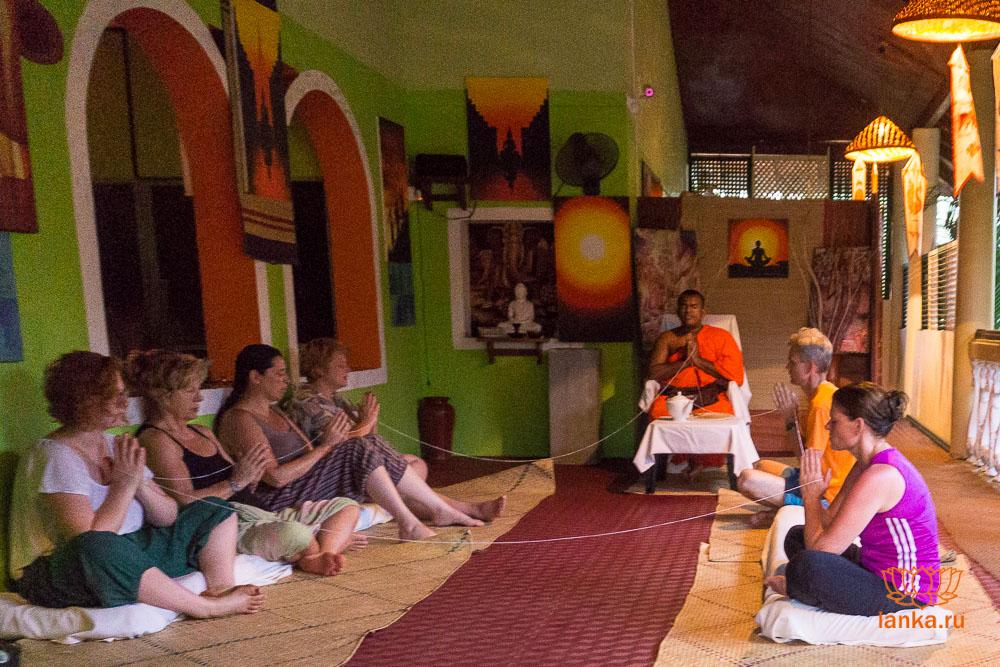 Медитация с буддийским монахом