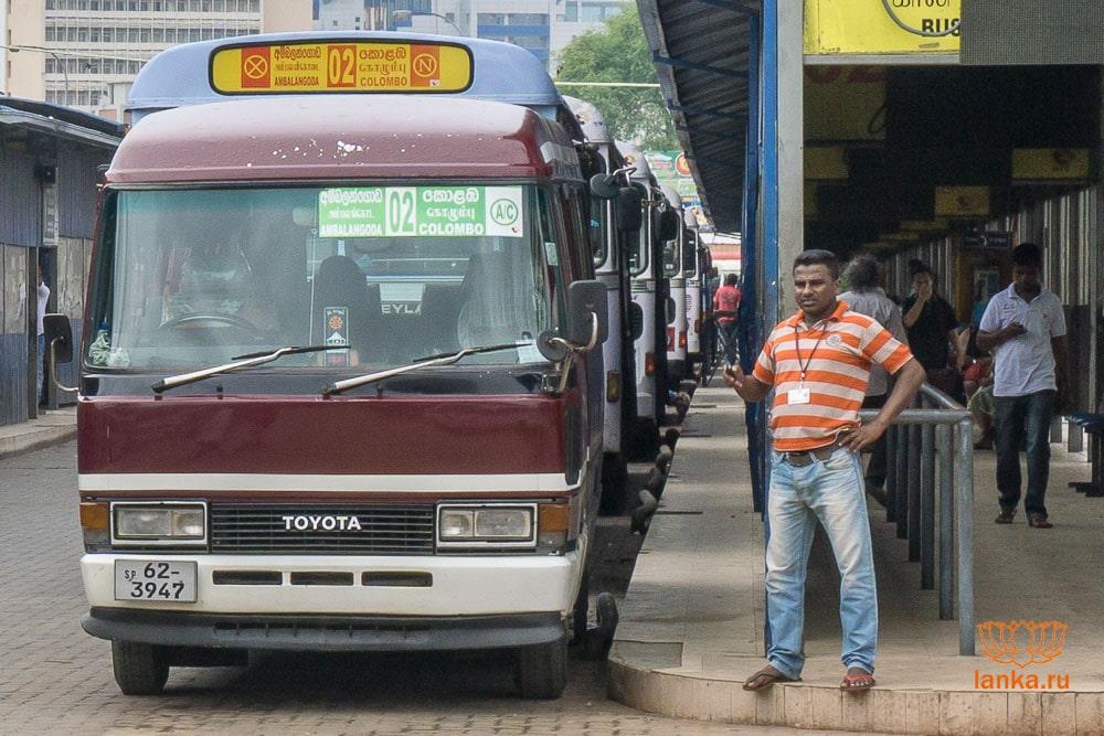 Типы комфортабельности автобусов Шри-Ланки