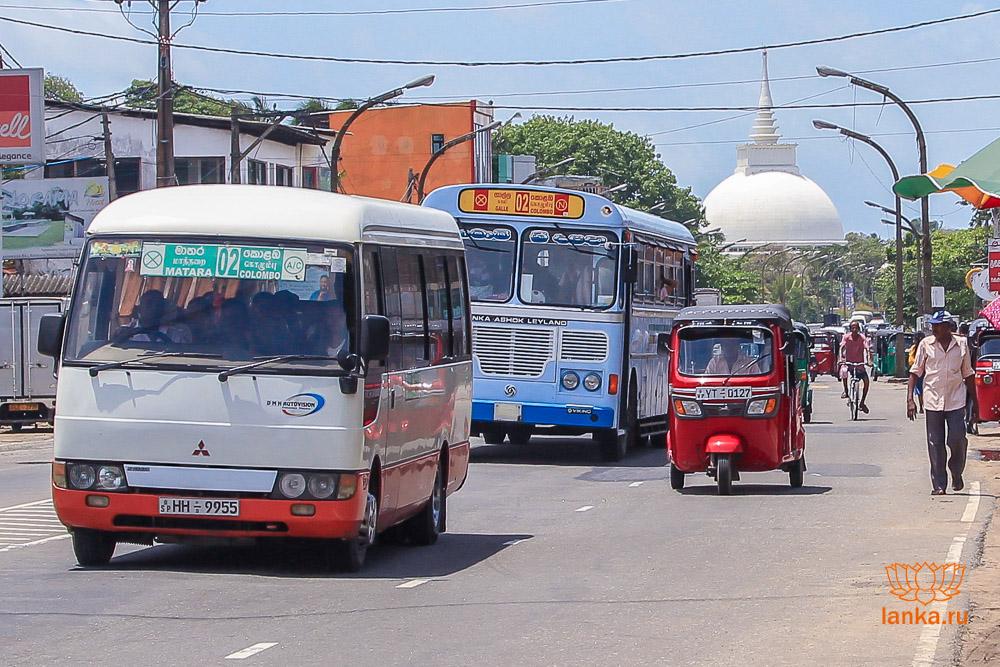 Минибас 02 Коломбо - Матара и автобус 02 Коломбо - Галле