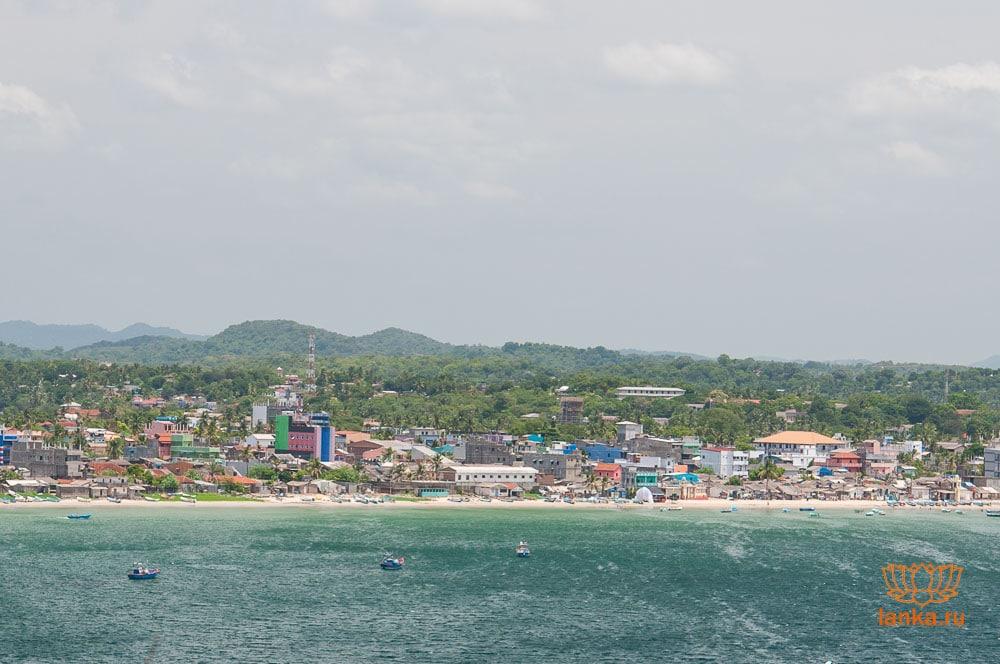 Город Тринкомалм (Trincomalee).