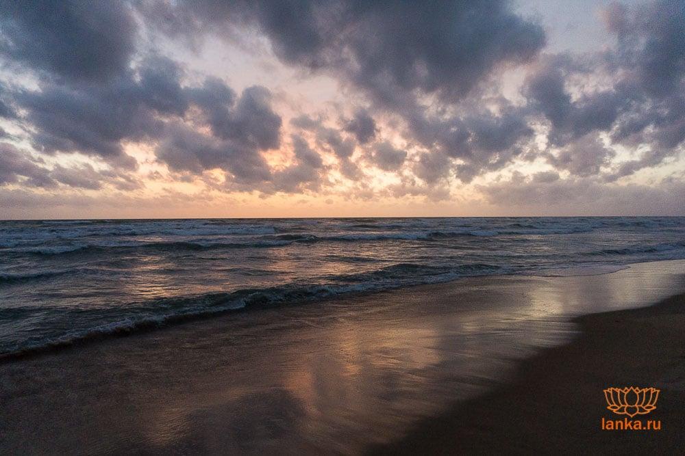 Закат над индийским океаном