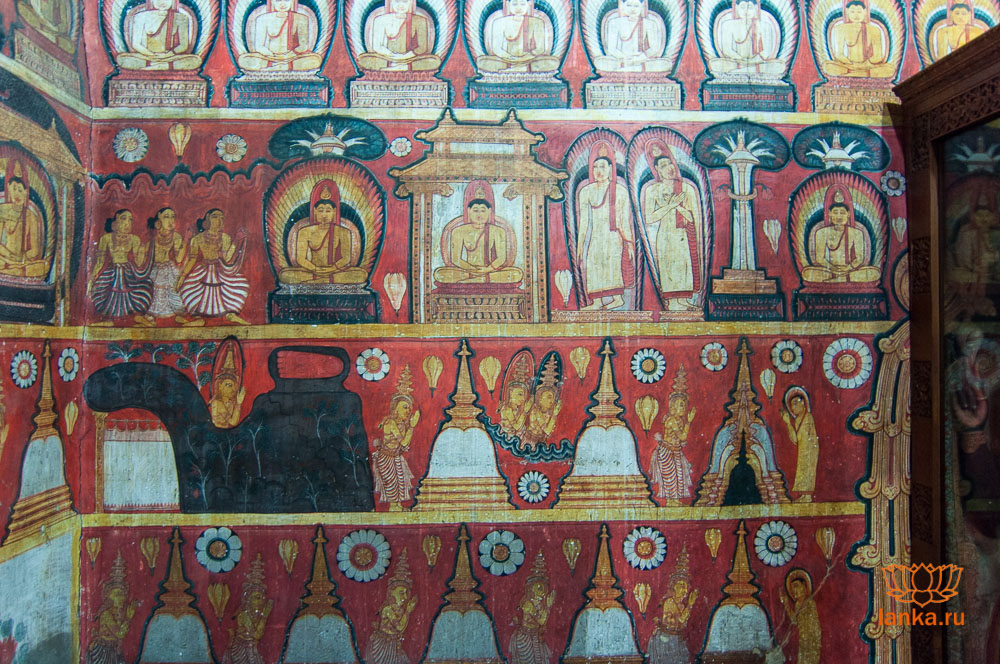 Росписи храма Риди Вихара