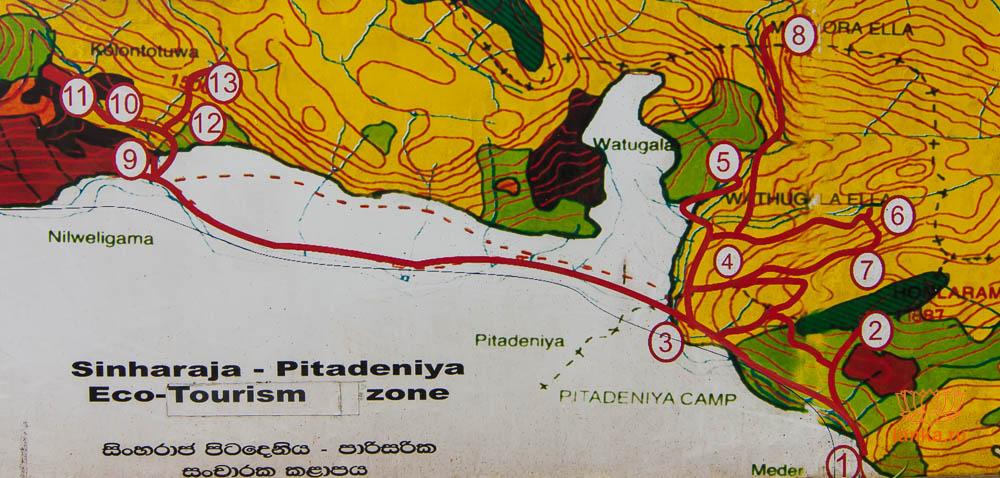 Карта маршрутов Синхараджи