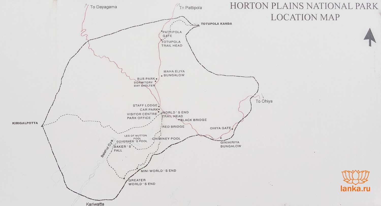 Карта Хортон Плейнс