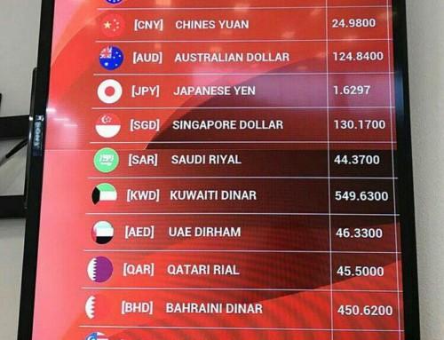 Курс валют в аэропорту Шри-Ланки