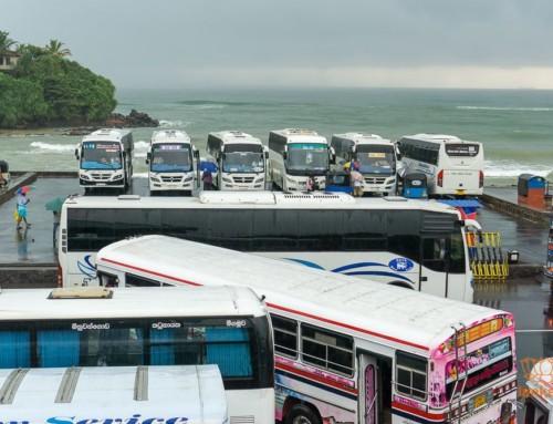 Остановка автобусов-экспрессов в Матаре (Matara)
