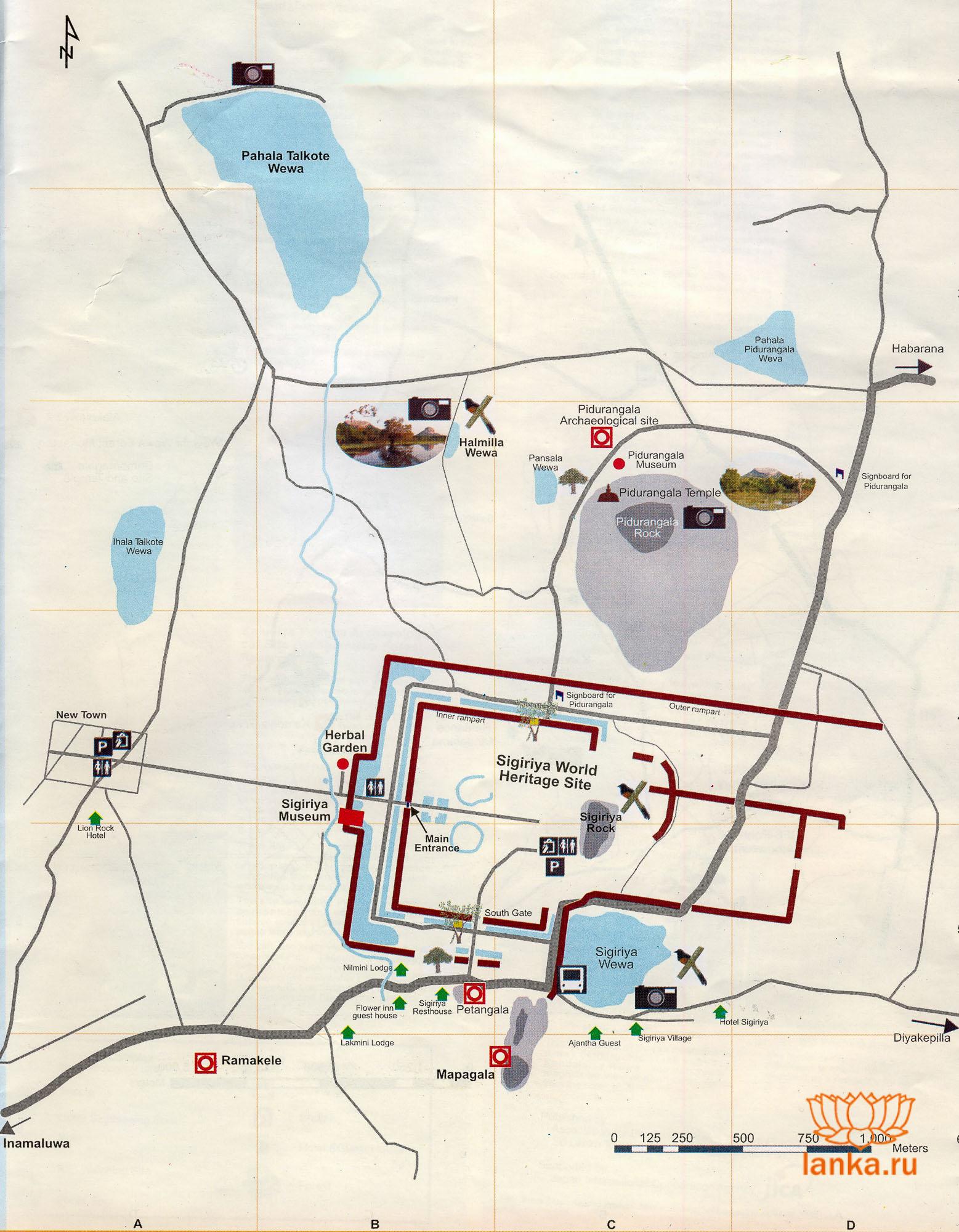 Карта Сигирии